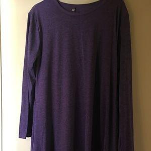 Badasha Purple Long Sleeve Tee, NWOT, 2X